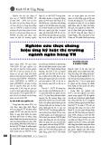 Nghiên cứu thực chứng hiệu ứng kỷ luật thị trường ngành ngân hàng Việt Nam