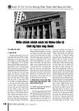 Điều chỉnh chính sách tài khóa tiền tệ thời kỳ hậu suy thoái
