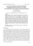 English learning needs of business administration students: Factors to consider in esp curriculum development