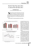 Kinh tế Việt Nam năm 2012 và một số đề xuất năm 2013