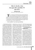 Một số vấn đề cơ bản liên quan đến Luật Biển VN năm 2012