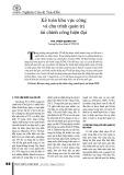 Kế toán khu vực công và chu trình quản trị tài chính công hiện đại