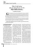 Nhân tố ảnh hưởng đến giá chứng khoán của VN một số điểm cần lưu ý