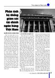 Phân tích hệ thống giám sát tài chính ngân hàng Việt Nam
