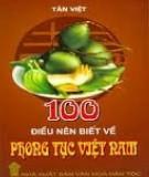Ebook 100 điều nên biết về phong tục Việt Nam: Phần 2 - NXB Văn hóa dân tộc
