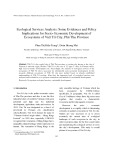 Ecological Services Analysis: Some Evidences and Policy Implications for Socio- Economic Development of Ecosystems of Việt Trì City, Phú Thọ Province