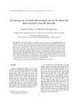 Ảnh hưởng của các thành phần trong hệ xúc tác Wonfram đến phản ứng Epoxy hoá dầu đậu nành