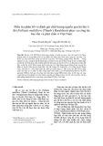 Điều tra phân bố và đánh giá chất lượng nguồn gen hà thủ ô đỏ (Fallopia multiflora (Thunb.) Haraldson) phục vụ công tác bảo tồn và phát triển ở Việt Nam