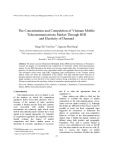 The Concentration and Competition of Vietnam Mobile Telecommunications Market Through Hirschman-Herfindahl Index and Elasticity of Demand