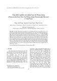 Góp phần nghiên cứu phân loại chi Ráng màng (Hymenophyllum Sm.) họ Ráng màng Hymenophyllaceae) ở Việt Nam
