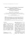 Impacts of Servant Leadership Style on Organizational Engagement of Employees Implications for Research on Leadership and Employee Engagement