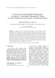 """Assessment of Training Quality Management According to """"Total Quality Management"""" Model at Vienam National University, International School"""