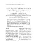 Nghiên cứu phương pháp xác định phthalate từ mẫu không khí trong nhà bằng kỹ thuật sắc ký khí ghép nối khối phổ