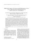 Đánh giá tác dụng ức chế enzym acetylcholinesterase in vitro của các phân đoạn dịch chiết Hoàng liên ô rô