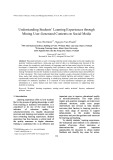 Understanding Students' Learning Experiences through Mining User-Generated Contents on Social Media