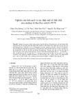 Nghiên cứu tinh sạch và xác định một số tính chất của catalase từ Bacillus subtilis PY79