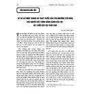 Về cơ sở hình thành và phát triển của tín ngưỡng thờ Mẫu của người Việt vùng đồng bằng Bắc Bộ - xét dưới góc độ Triết học