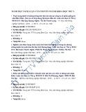 Danh mục sách luận văn chuyên ngành khoa học Thú y