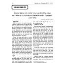 Phong trào yêu nước của người Công giáo Việt Nam ở Sài Gòn dưới chế độ Nguyễn Văn Thiệu