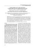 Đánh giá hiệu quả ức chế sinh trưởng của dịch chiết cây mần tưới Eupatorium fortune Turcz lên quần xã thực vật phù du hồ Hoàn Kiếm