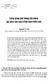 Lồng ghép giới trong xây dựng gia đình văn hóa ở Việt Nam hiện nay