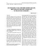 """Cơ chế quản lý của làng Minh Hương Chợ Lớn (một phân tích qua bản """"Khoán Ước và tiểu sử các vị tiền bối"""")"""