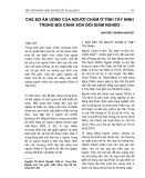 Chế độ ăn uống của người Chăm ở tỉnh Tây Ninh trong bối cảnh xóa đói giảm nghèo