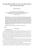 Áp dụng pháp luật hình sự của tòa án nhân dân (qua thực tiễn tỉnh Thanh Hóa)