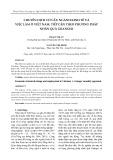Chuyển dịch cơ cấu ngành kinh tế và việc làm ở Việt Nam: tiếp cận theo phương pháp nhân quả Granger