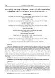 Ứng dụng phương pháp PRC trong việc xác định nấm gây bệnh đạo ôn trên lúa, Magnaporthe oryzae