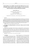 Ảnh hưởng của thông tin kế toán đến giá của các cổ phiếu: bằng chứng thực nghiệm từ sở giao dịch chứng khoán Thành phố Hồ Chí Minh