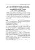 Ảnh hưởng của tiêm riêng rẽ và kết hợp Trichoderma viride và Bacillus đến sự tăng trưởng của cây lạc và kiểm soát sinh học nấm Fusarium sp. và Pythium sp.