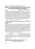 Nghiên cứu ảnh hưởng của một số yếu tố kinh tế xã hội tới sức khỏe người dân tỉnh Lâm Đồng