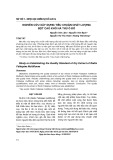 Nghiên cứu xây dựng tiêu chuẩn chất lượng bột cao khô hà thủ ô đỏ