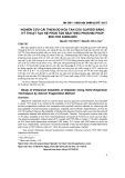 Nghiên cứu cải thiện độ hòa tan của glipizid bằng kỹ thuật tạo hệ phân tán rắn theo phương pháp bốc hơi dung môi