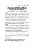 Tối ưu hóa quy trình tổng hợp amantadin hydroclorid từ N-(1-adamantyl)acetamid bằng phần mềm tin học modde 5.0