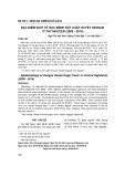 Đặc điểm dịch tễ học bệnh sốt xuất huyết dengue ở Tây Nguyên (2005-2014)