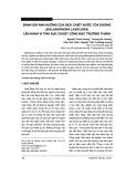 Đánh giá ảnh hưởng của dịch chiết nước tỏa dương (balanophora laxiflora) lên hành vi tình dục chuột cống đực trưởng thành