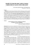 Nghiên cứu HBV-DNA định lượng và HBeAg ở bệnh nhân xơ gan do virus viêm gan B