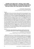 Nghiên cứu kiến thức, thái độ, thực hành phòng chống nhiễm hiv của nhóm nam quan hệ tình dục đồng giới tỉnh Khánh Hòa năm 2010