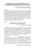 Thẩm định hiệu lực phương pháp LaL và ứng dụng để thử nghiệm nội độc tố vi khuẩn