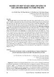 Nghiên cứu một số đặc điểm lâm sàng và cận lâm sàng bệnh tả ở Bến Tre 2010