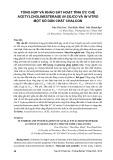 Tổng hợp và khảo sát hoạt tính ức chế Acetylcholinesterase in silico và in vitro một số dẫn chất Chalcon