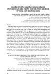 Nghiên cứu căn nguyên vi khuẩn hiếu khí gây nhiễm khuẩn bệnh viện tại bệnh viện Trung ương Huế từ tháng 5/2011 đến tháng 5/2012