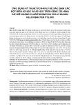 Ứng dụng kỹ thuật PCR-RFLP để xác định các đột biến A2142G và A2143G trên Gene 23s rRNA gây đề kháng clarithromycin của  vi khuẩn Helicobacter pylori