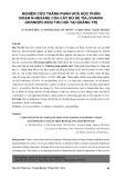 Nghiên cứu thành phần hoá học phân đoạn N - hexane của cây bù dẻ tía (Uvaria grandiflora) thu hái tại Quảng Trị