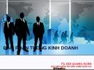 Bài giảng Tâm lý kinh doanh - Bài 1: Đàm phán trong kinh doanh