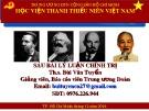 Bài giàng 6 bài lí luận chính trị - Chuyên đề 4: Đoàn TNCS Hồ Chí Minh - trường học xã hội chủ nghĩa của thanh niên, người bảo vệ quyền và lợi ích hợp pháp của thanh niên Việt Nam