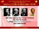 Bài giảng Những vấn đề cơ bản của chủ nghĩa Mác-Lênin, tư tưởng Hồ Chí Minh - Bài 5:  Sứ mệnh lịch sử toàn thế giới của giai cấp công nhân