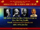 Bài giảng Những vấn đề cơ bản của chủ nghĩa Mác-Lênin, tư tưởng Hồ Chí Minh - Bài 7: Liên minh công – nông – trí thức trong thời kỳ quá độ lên chủ nghĩa xã hội
